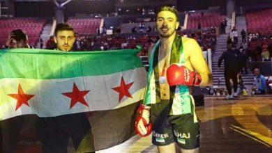 صورة بـ 15 ثانية فقط .. ملاكم سوري يحقق فوزاً ساحقاً على خصـ.ـمه الإيراني بالضـربة القـاضية