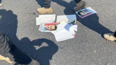 صورة لبنانيون في بيروت يعتـ.ـرضون مسيرة مؤيدة للنظام السوري ويمنعون رفع صور بشار الأسد